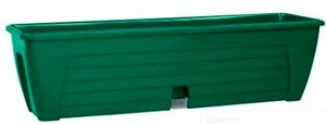 """Балконный ящик двойной с 2 картриджами """"LIDO PLUS"""" 12.3 Л., Зеленый"""