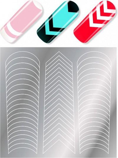 Модный маникюр  MILV — Трафареты и наклейки — Дизайн ногтей