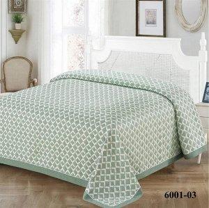 Покрывало Покрывало 230*260 Браво м2005 зеленый 6001-03 Пастельные тона, окантовка однотонной тканью с лаконичной оригинальной тесьмой, стильная упаковка-коробка - это прекрасный подарок себе и близки