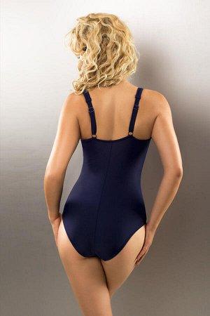 Купальник Темно-синий слитный купальник Penelope с мягкой вшитой чашкой и глубоким вырезом на спине. Купальник декорирован красивым принтом. Особый крой и специальная приятная для кожи подкладка позво