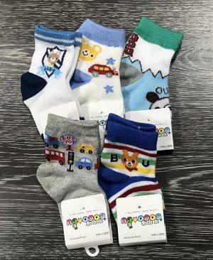 Носки детские цветные 3 пары для мальчика