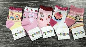 Носки детские цветные 3 пары для девочки