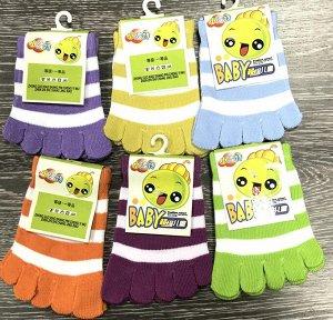 Детские носки с пальцами 3 пары