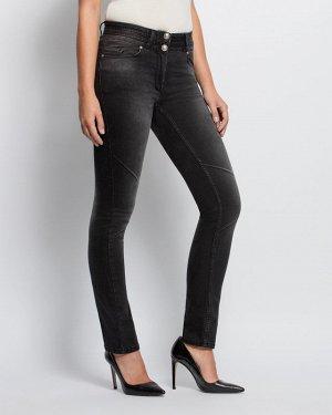 Классные Тёмно-серые джинсы большого размера (62-64)