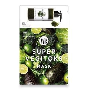 Wonder Bath Super Vegitoks Mask Green Набор пенка 3мл + маска Супер Вегитокс 25 мл