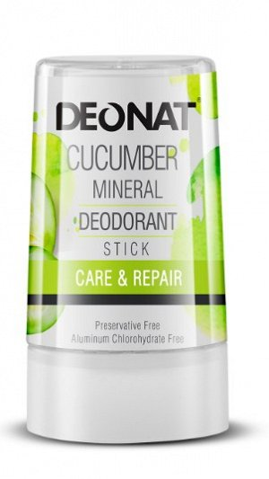 Дезодорант-Кристалл DeoNat с экстрактом огурца, стик 40 гр.