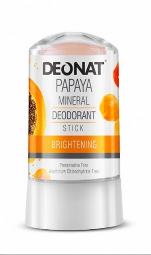 Дезодорант-Кристалл DeoNat с экстрактом папайи, стик, 60 гр.