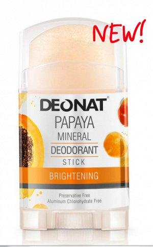 Дезодорант-Кристалл  DeoNat с экстрактом папайи, стик вывинчивающийся (twist-up), 100 гр.   НОВИНКА!