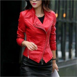 Куртка женская цвет; КРАСНЫЙ