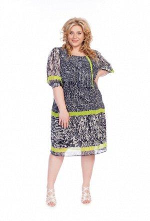 Шифоновое платье на 50-52р