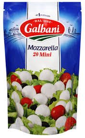Сыр Моцарелла мини 45% ТМ Гальбани 150г
