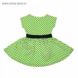 Платье Платье дев. Летний блюз дпк932001н /черный горох на салате+черный/ состав х/б 100%