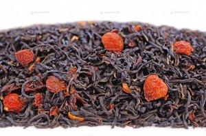 Чай черный ароматизированный фасованный Черный с шиповником