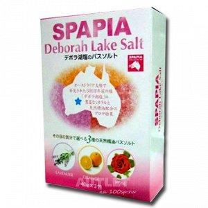 Соль для ванны со спа-эффектом и ароматами лаванды, апельсина и розы