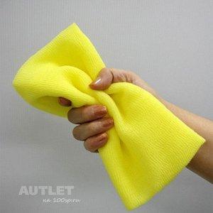"""OHE"" ""CURE series"" Мочалка для тела средней жёсткости, (жёлтая)"