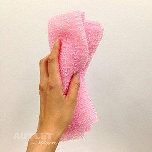 """""""OHE"""" """"Awatime"""" Мочалка для создания большого количества пены средней жесткости, (розовая)"""
