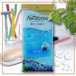 """""""OHE"""" """"Awatime"""" Мочалка для создания большого количества пены жесткая, (синяя)"""
