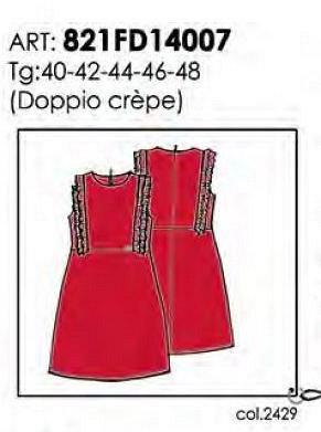 Платье красное 2429