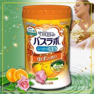 """""""HERS Bath Labo"""" Увлажняющая соль для ванны с восстанавливающим эффектом с гиалуроновой кислотой, (с ароматом юдзу)"""