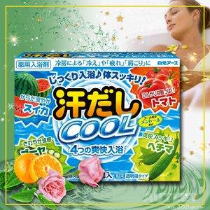"""""""Asedashi COOL"""" Освежающая соль для ванны  с аминокислотами, витамином С и экстрактами томата и люффы"""