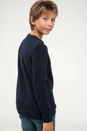 Свитер для мальчика темно-синий