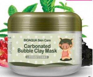 Маска очищающая пузырьковая BIOAQUA Carbonated Bubble Clay Mask, 100g