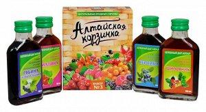 """Подарочный набор """"сиропы ягодные натуральные"""" №3 4 вида по 100 мл"""