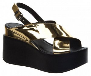 977830/01-03 золотой иск.кожа лак женские туфли открытые