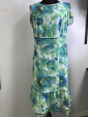 Платье Платье летнее зеленое Onizocco. Южная Корея. Полиэстер/вискоза.