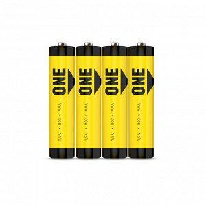 Батарейка солевая Smartbuy ONE R03/4S (60/600)  (SOBZ-3A04S-Eco)