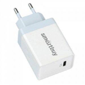 Зарядное устройство сетевое FLASH, 18 вт, PD (3.0 А), белое, USB type C, 1 USB (SBP-1018C)