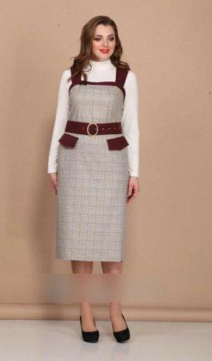 Женский комплект сарафан и блузка
