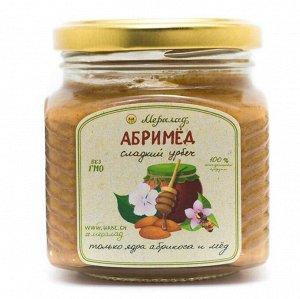 Абримед Состав: Урбеч из ядер абрикоса 70%, гречишный мёд 30% Очень вкусный!  Полезные свойства ядер абрикоса с мёдом: богатейший источник витамина В17, борющегося с раковыми  клетками полезны для сер