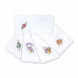 Женские носовые платки, 6 шт., 100% х/б