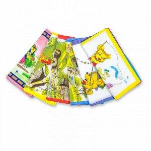 Детские носовые платки, 12 шт., 100% х/б