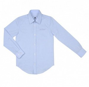 Рубашка классика в мелкую полоску с вышевкой на полочке