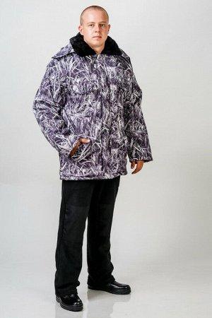 Куртка Ткани:Дуплекс. утепленная на меху.Куртка прямого силуэта с центральной застежкой-молнией, с ветрозащитным клапаном, с отложным меховым воротником, со съемным капюшоном на пуговицах. Полочки с
