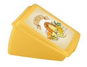 Контейнер для сыра с декором 135*120*75 ,1/32 желтый