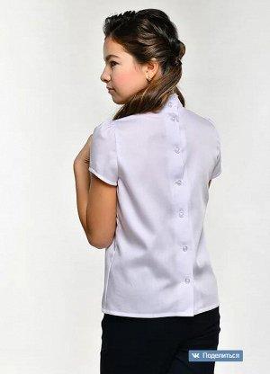 Блузка белый длинный рукав
