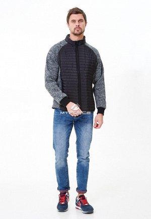 Мужская осенняя весенняя молодежная куртка стеганная черного цвета