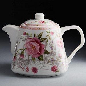 """Чайник заварочный 700 мл Ф2-017R """"Розовый танец"""""""