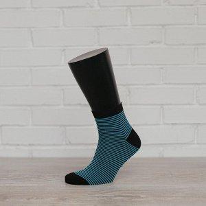 *01-2П, черный/бирюза носки