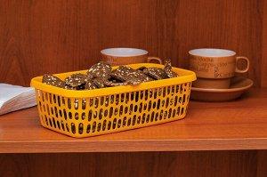 Корзина Корзинка  240х140х70мм   Микс Главная особенность этих корзинок - высокая универсальность!  Их можно использовать для хранения бытовой химии, мелкого белья, домашних мелочей, канцелярии и прод