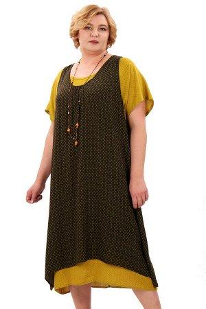 Платье-двойка отличного качества, на любую фигуру.