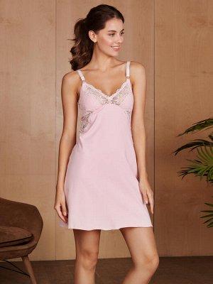 Сорочка для кормления Izabel розовый  (хлопок 80% полиамид 14% эластан 6%)