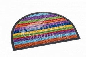 Коврик Коврик придверный SHAHINTEX  LUX  multicolor 40*60 (полукруглый) Коврики LUX multicolor разрабатывались с целью уйти от привычных придверных ковриков. Расцветка ковриков этой модели сочетает в