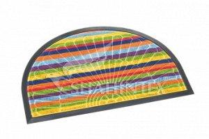 Коврик Коврик придверный SHAHINTEX  LUX  multicolor 45*75 (полукруг) Коврики LUX multicolor разрабатывались с целью уйти от привычных придверных ковриков. Расцветка ковриков этой модели сочетает в себ