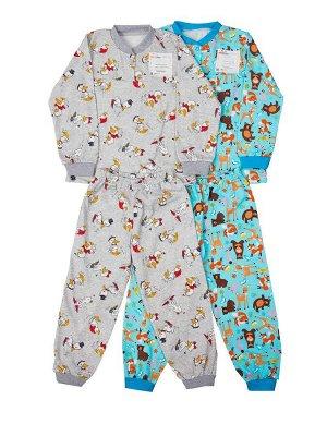 Пижама на кнопке кулирка 26-34