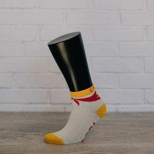 W07, крем/жёлтый носки