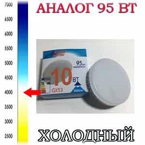 ЛАМПА СВЕТОДИОДНАЯ LED-GX53-Regular 10Вт 175-265В 4000К